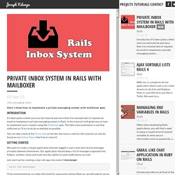 Private Inbox System in Rails with Mailboxer