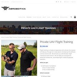 Private UAV Flight Training