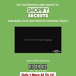 Private Label Rights Wholesaler - Shopify Secrets PLR