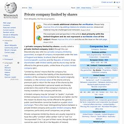 Private company limited by shares