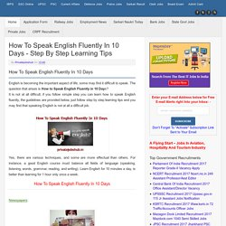 How To Speak English Fluently In 10 Days - Step By Step Learning Tips