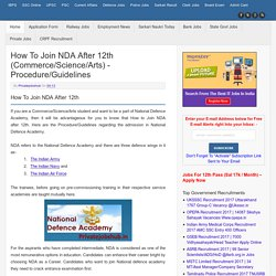 How to Join NDA after 12th (Commerce/Science/Arts) - Procedure/Guidelines