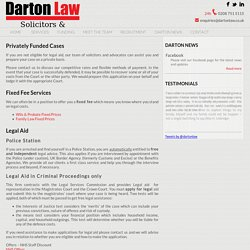 Privately Funded Cases - Darton Law Solicitors and Advocates in Feltham, West London