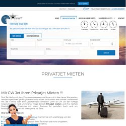 Privatjet Mieten - Privatjet Buchen