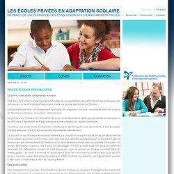 Les écoles privées en adaptation scolaire
