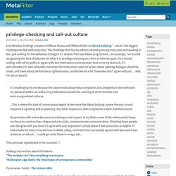 privilege-checking and call-out culture