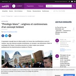 """""""Privilège blanc"""" : origines et controverses d'un concept brûlant"""