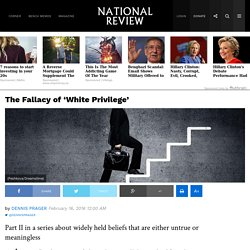 White Privilege: Myth & Reality