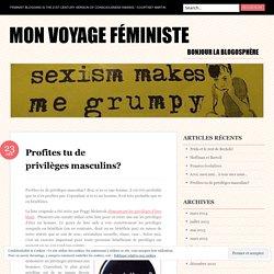 Profites tu de privilèges masculins?