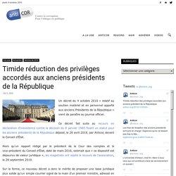 Timide réduction des privilèges accordés aux anciens présidents de la République