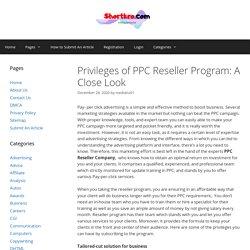 Privileges ofPPC Reseller Program: A Close Look