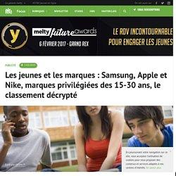 Les jeunes et les marques : Samsung, Apple et Nike, marques privilégiées des 15-30 ans, le classement décrypté