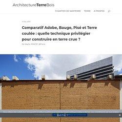 Comparatif Adobe, Bauge, Pisé et Terre coulée : quelle technique privilégier pour construire en terre crue ? - Architecture Terre Bois