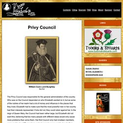 HOMEWORK What was the Privy Council?