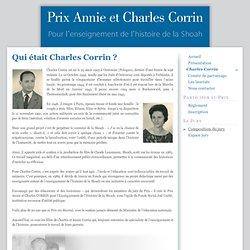 Prix Annie et Charles Corrin - Charles Corrin