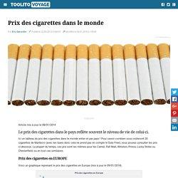 Prix des cigarettes dans le monde