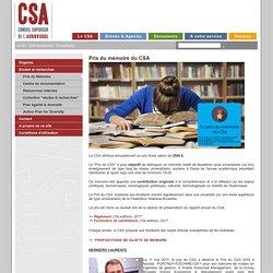 Prix du mémoire du CSA