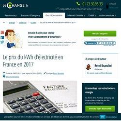 Le prix du kWh d'électricité en France en 2017