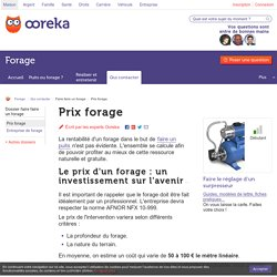 Prix forage : tarifs forage - Ooreka