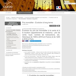 CGEDD - Prix immobilier, 1200-2011