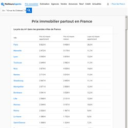 Les prix de l'immobilier partout en France