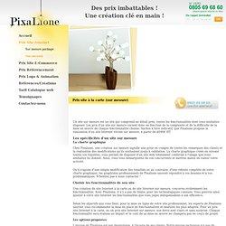 Prix Site Internet – sur mesure – a la carte