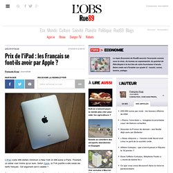 Prix de l'iPad : les Français se font-ils avoir par Apple ? | Ec