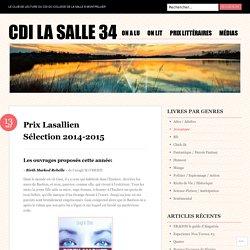 Prix Lasallien Sélection 2014-2015
