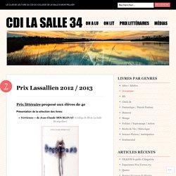 Prix Lassallien 2012 / 2013
