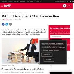 Prix du Livre Inter 2019 : La sélection