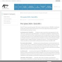 Prix Lycéen 2020 «Social BD»