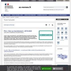Prix « Non au harcèlement » 2019-2020 Académie de Rennes