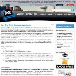 Les Prix Paris Jeunes Aventures