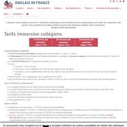 Prix séjour anglais en France pour ado - ANGLAIS IN FRANCE
