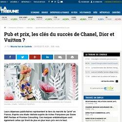 Pub et prix, les clés du succès de Chanel, Dior et Vuitton?