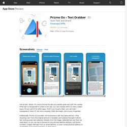 Prizmo Go › Text Grabber on the AppStore
