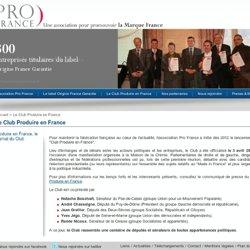 Pro France - Le Club Produire en France