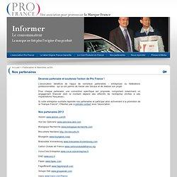 Pro France - Nos partenaires