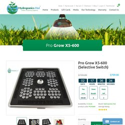 Hydroponic Grow Lights - hydroponicshut.com