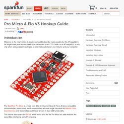 Pro Micro & Fio V3 Hookup Guide