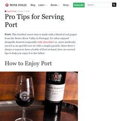 Pro Tips for Serving Port
