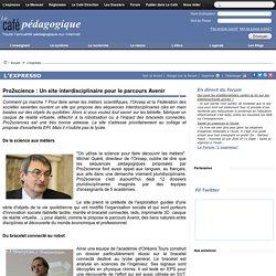 Pro2science : Un site interdisciplinaire pour le parcours Avenir