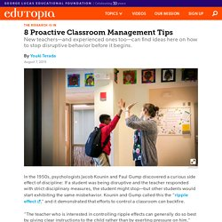8 Proactive Classroom Management Tips for New Teachers