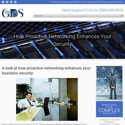 How Proactive Networking Enhances Your Security