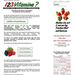 PROANTHENOLS LifePlus Nahrungsergänzung bestellen kaufen - 123 Vitamine
