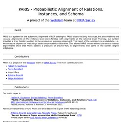 PARIS - Probabilistic Alignment of Relations, Instances, and Schema