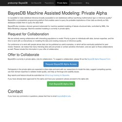 BayesDB - The MIT Probabilistic Computing Project
