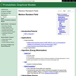 Probabilistic Graphical Models - Markov Random Field