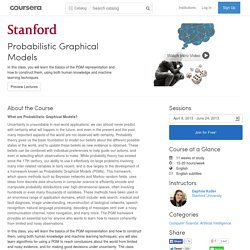 Probabilistic Graphical Models - January 2012