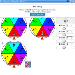 Probability spinner, adjustable classroom random number spinners